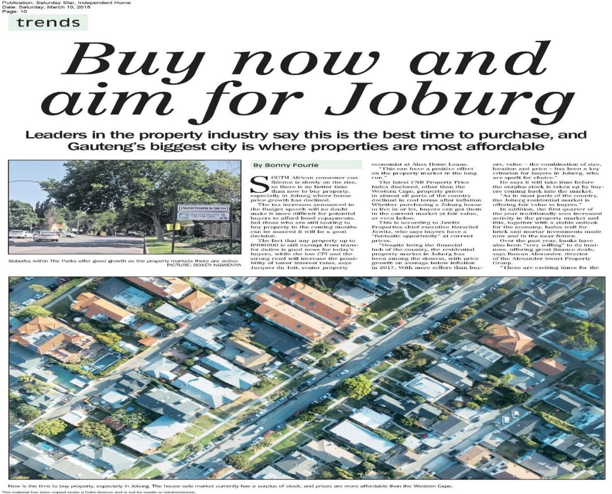 Buy now and aim for Joburg - Guthrie Colananni Attorneys